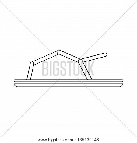 Sandals icon in outline style on a white background