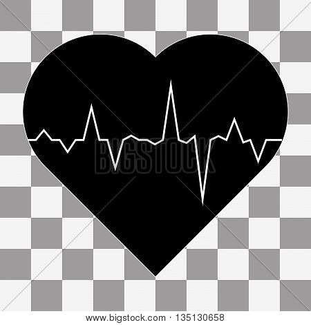 electrocardiogram icon vector on a transparent background