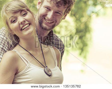 Travel Loving Couple Portrait Outdoor