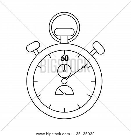 Stopwatch icon in outline style on a white background