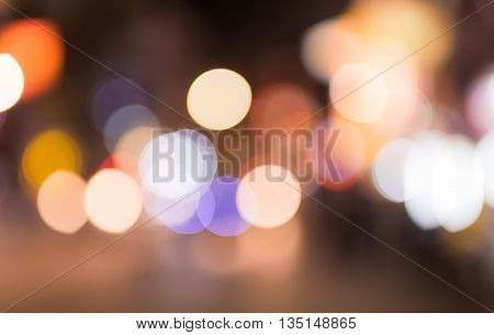 Abstract circular bokeh background of Christmaslight , blur background