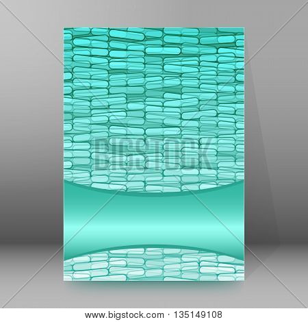 Brochure Cover Template Vertical Format Glowing Background16