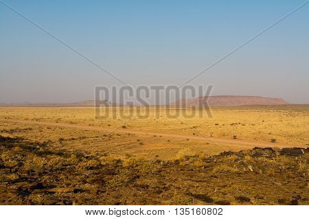 Scenery Of A Table Mountain In Namibia, Africa