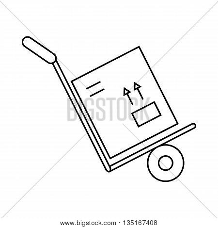 Hand Truck Box Icon Vector Photo Free Trial