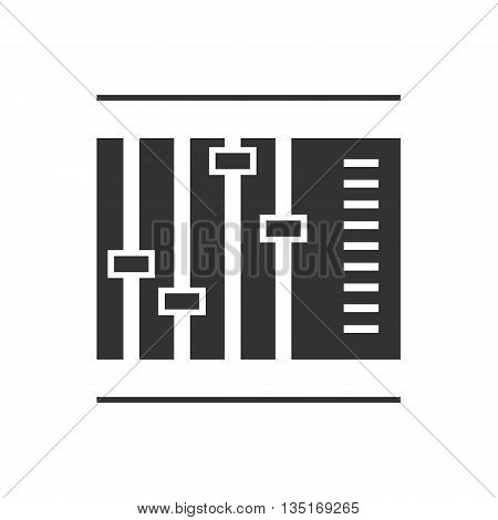 Sliders and faders. Isolated on background. Vector illustration