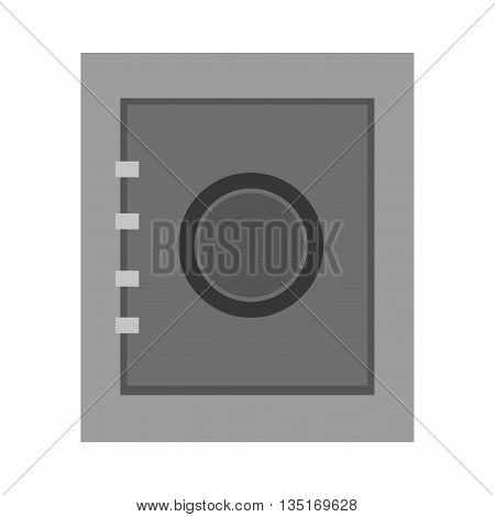 grey security box, security concepto, bank concept over isolated background, vector illustration