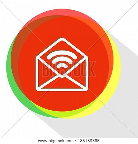 open sound mail. Internet template. Vector icon.