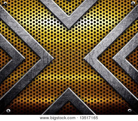 metal plate with X pattern