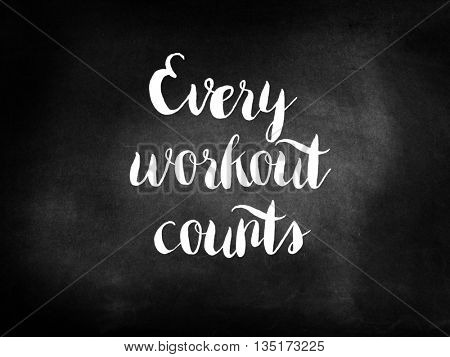Every workout counts
