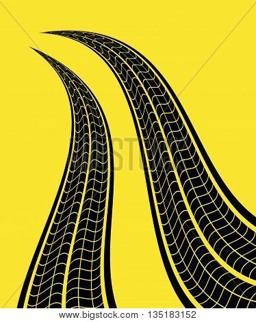 Tire track print graphic design, vector illustration eps10