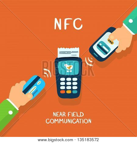 near field communication payments with card or mobile