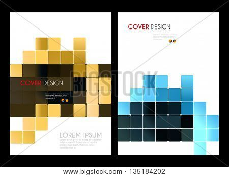 Annual report brochure design template easy editable