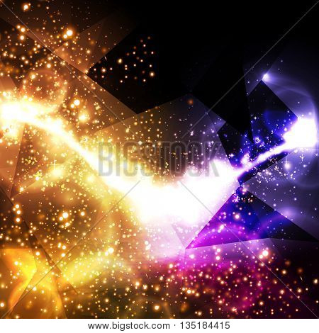 abstract polygon triangles background easy all editable