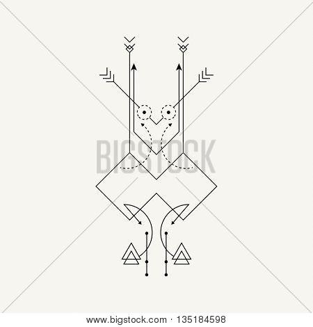Line Dot Tattoo Vector Art