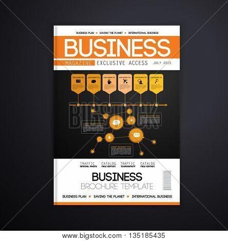 Magazine cover design, vector