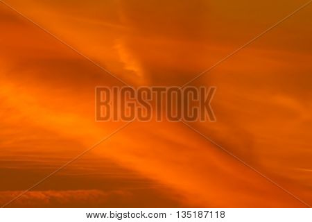 Background orange yellow abstract shadows sky cloudy