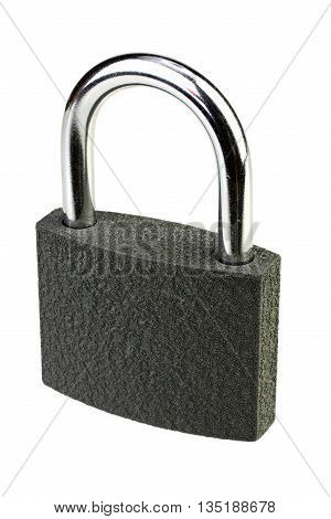 Padlock on white background with clipping path