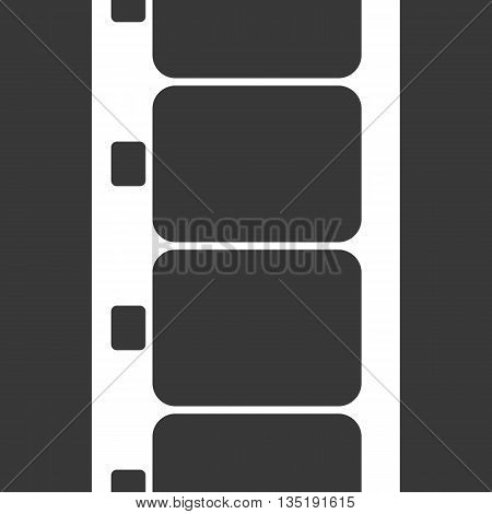 Vector Super 8 Film Strip Illustration on black background. Abstract Film Strip design template. Film Strip Seamless Pattern.