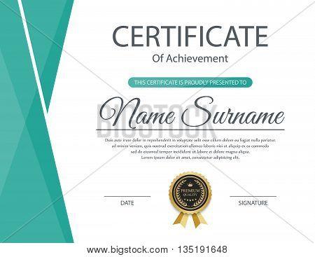Certificate template, Modern Certificate template design. Vector