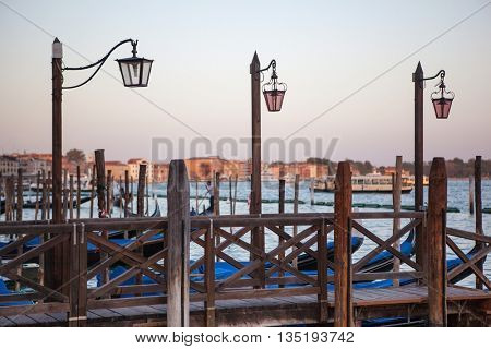 lantern at Canal Grande in Venice