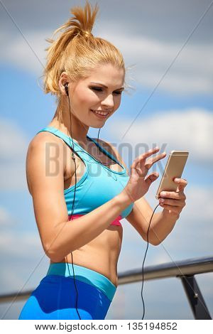 Sport outdoor. Beautiful girl on the street