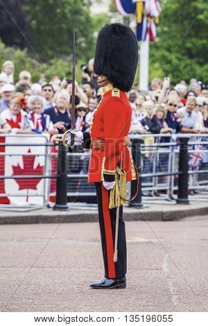 An image of a typical guard in London