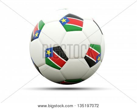 Flag Of South Sudan On Football
