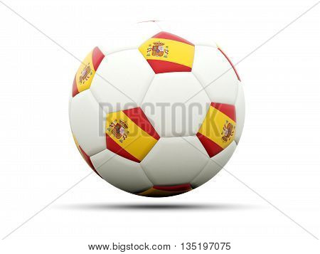 Flag Of Spain On Football