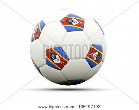 Flag Of Swaziland On Football