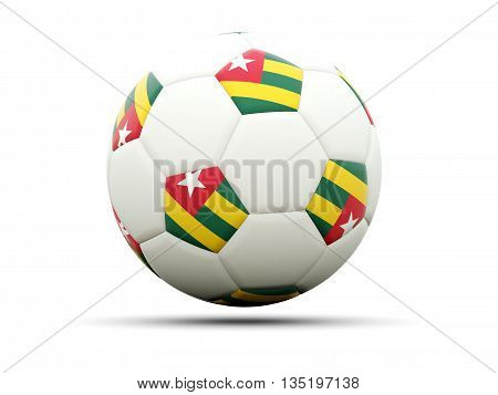 Flag Of Togo On Football