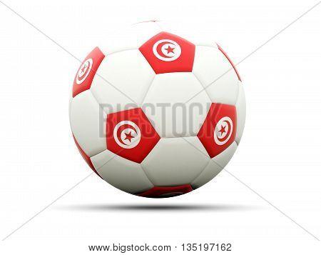 Flag Of Tunisia On Football