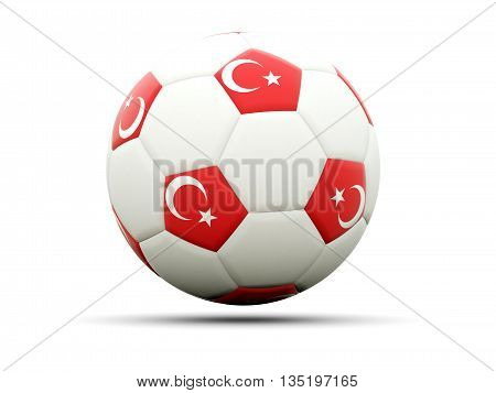 Flag Of Turkey On Football