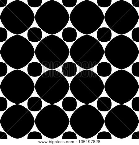 Polka dot geometric seamless pattern. Fashion graphic background design. Modern stylish abstract texture. Monochrome template for prints textiles wrapping wallpaper etc. VECTOR illustration