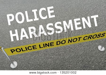 Police Harassment Police Concept