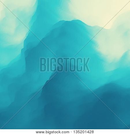 Blue Abstract Background. Design Template. Modern Pattern. Vector Illustration.