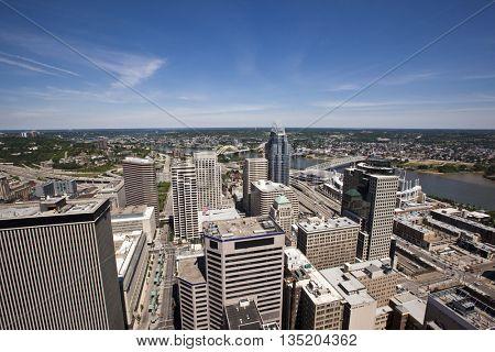 Looking east past Cincinnati into Kentucky