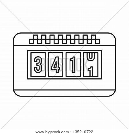 Taximeter icon in outline style isolated on white background