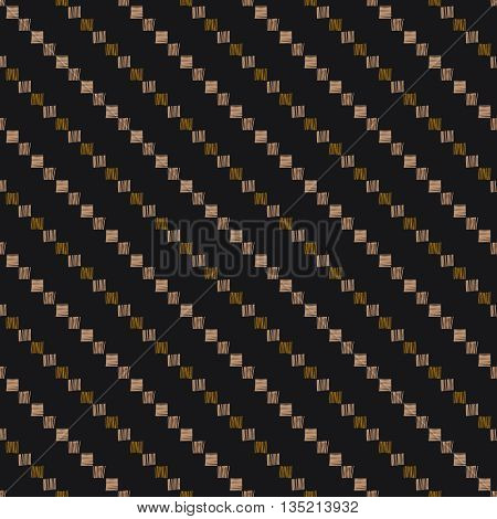 Hand drawn grunge seamless pattern. Abstract seamless pattern. Ethnic pattern. Textile vector. Diagonal lines