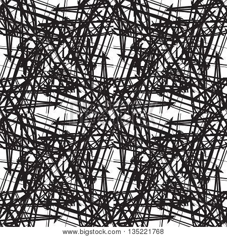 Abstract Pattern With Hand-drawn Lines