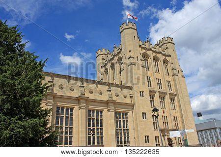 exterior of historic building in Bristol University