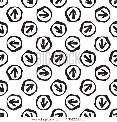Monochromatic Seamless Background With Arrows