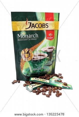 Kiev, Ukraine - June 15, 2016: Package of coffee Jacobs