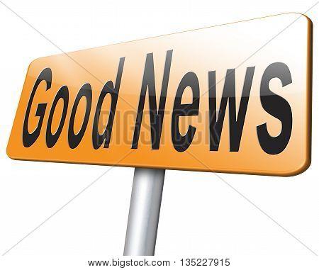 Good News Road Sign