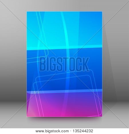 Brochure Cover Template Vertical Format Glowing Background26