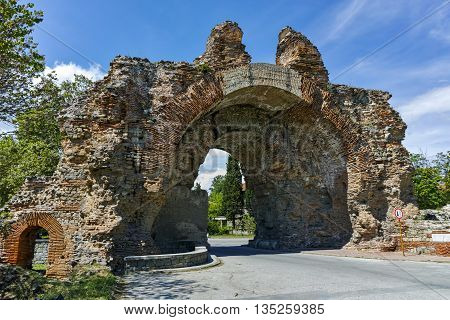 The South gate - The Camels of ancient roman fortifications in Diocletianopolis, town of Hisarya, Plovdiv Region, Bulgaria