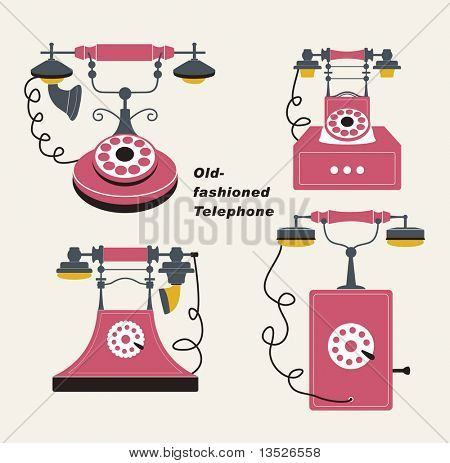 Vector old-fashioned telephone poster