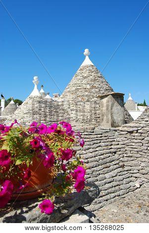 A characteristic roof of Trulli of Alberobello - Apulia - Italy