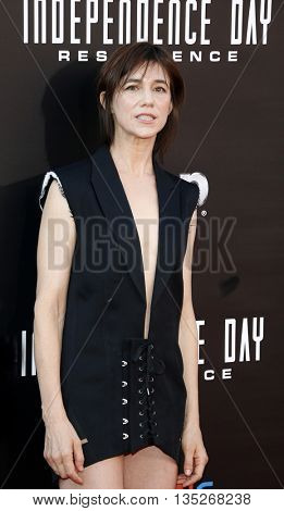 Charlotte Gainsbourg at the Los Angeles premiere of 'Independence Day: Resurgence' held at the TCL Chinese Theatre in Hollywood, USA on June 20, 2016.