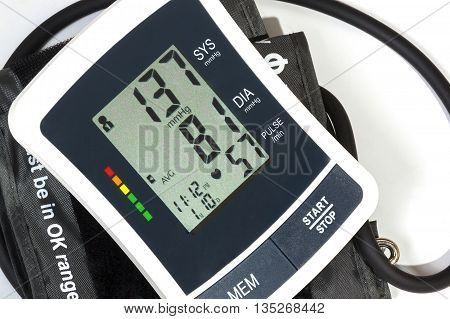 Close Up View Of Blood Pressure Monitor Cuff And Pipe