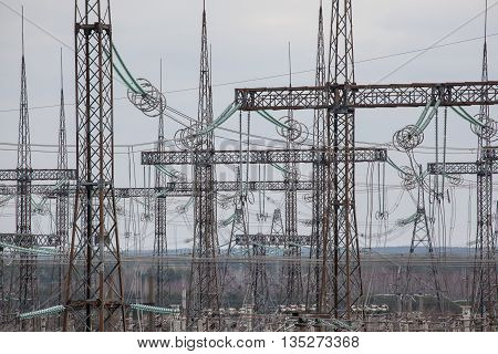 power lines chernobyl high voltage energy cable